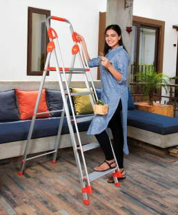 Bathla Zenith 5-Step Foldable (With hand rails and safety grips) Aluminium Ladder
