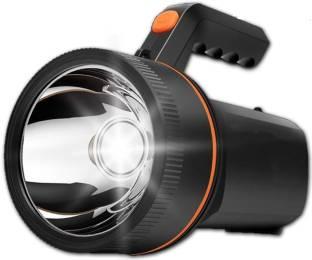 IDOLESHOP 50 Watt Laser Light Long Range Blinker LED Torch with 2000 MAH Rechargeable Battery Black To...