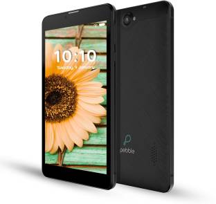 Pebble Quad Pro 1 GB RAM 16 GB ROM 7 inch with Wi-Fi+4G Tablet (Black)