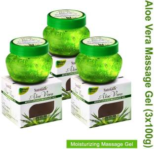 NutriGlow Aloe Vera Moisturizing Massage Gel 100gm Pack of 3