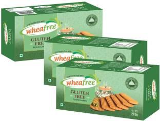 wheafree Elaichi Cookies - Gluten Free - Pack of 3 (200g each) Cookies