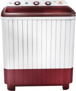 White Westinghouse (Trademark by Electrolux) 6 kg Semi Automatic Top Load White, Maroon
