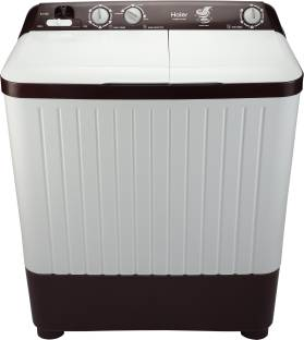 Haier 6.5 kg Semi Automatic Top Load White, Maroon