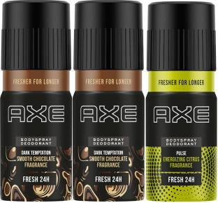 AXE Dark Temptation 150 ml (Pack of 2) and Pulse 150 ml Deodorant