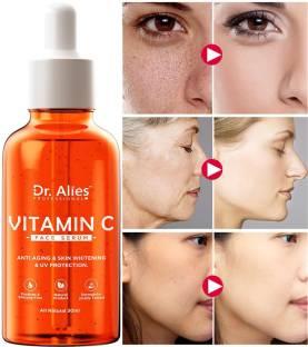 Dr. Alies Professional Vitamin C Face Serum - Skin Brightening Serum , Anti-Aging, Skin Repair, Supercharged Face Serum, Dark Circle, Fine Line & Sun Damage Corrector Face Serum