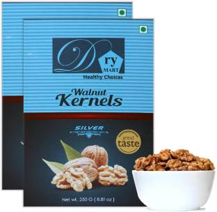 Dry.Mart Kashmiri 500 GM Premium Fresh Walnut Kernels/Walnuts without Shell/Akhrot Giri, Healthy & Delightful, Used for Snacking, Ingredient for Recipes, Cuisines & Desserts, Vaccum Pack (250 GM*2) Walnuts