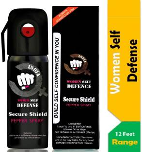 SECURE SHIELD Women Self Defence Pepper Spray for Safety/Protection Pepper Stream Spray
