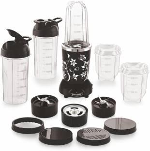 cookwell Bullet Modern 500 Juicer Mixer Grinder (5 Jars, Black and Chrome)