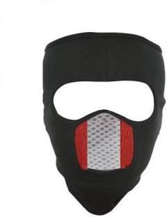 LA OTTER Black, Red Bike Face Mask for Men & Women