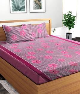 hmm 144 TC Polycotton Double 3D Printed Bedsheet