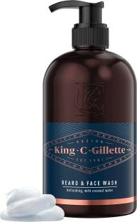King C. Gillette Men�s Beard and  with Coconut Water, Argan Oil and Avocado Oil Face Wash