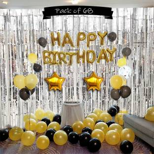 ToyNext Solid Happy Birthday Letter Foil Balloon Letter Balloon