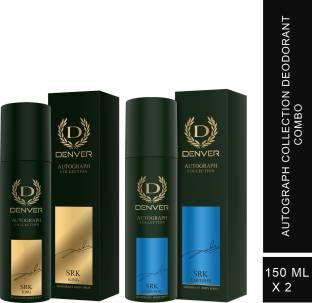 DENVER SRK King 150 ml & SRK Emperor 150 ml Autograph Collection Combo Deodorant Spray  -  For Men