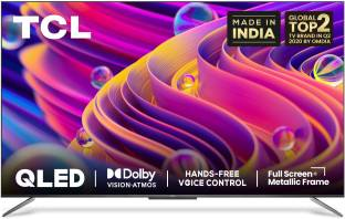 TCL C715 Series 139 cm (55 inch) QLED Ultra HD (4K) Smart Android TV with Handsfree Voice Control & Do...
