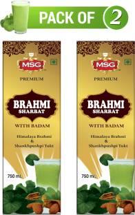 MSG Premium Brahmi Badam Sharbat (Pack of 2)