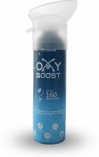 Oxy Boost Natural Portable Oxygen Cylinder Can with Inbuilt Mask, (9 Litre) (160 Breaths Approx.) Portable Oxygen Can