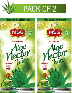 MSG Aloe Vera Juice with Amla, Honey and Brahmi (Made From 100% Organic Aloe Vera Leaves)