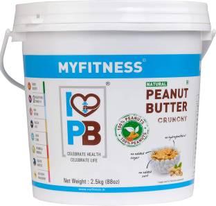 MYFITNESS Natural Peanut Butter Crunchy 2500 g