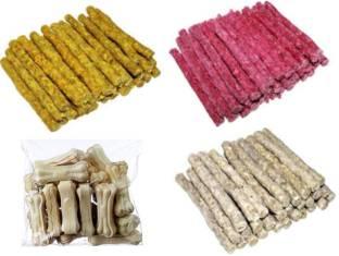 PetNutro Munchy Sticks Chicken (250G), Munchy Sticks Mutton (250G), Munchy Sticks Natural (250G), White Bone 3Inch (250G) Chicken, Mutton, Vegetable Dog Chew