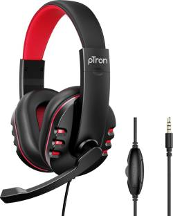 PTron Soundster Arcade Gaming Wired Headphones with Adjustable HD Mic, Hi-Fi Stereo Sound, Ergonomic Headset with Volume Control, 3.5mm Aux and 1.3 Meter Long Tangle-free Cable Wired Gaming Headset