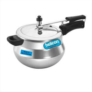 helicon Premium Aluminium Handi Shape 5 L Induction Bottom Pressure Cooker