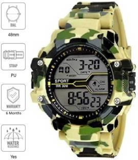 Flozio FL-1017 FL1017 Yellow Digital Watch  - For Boys