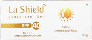 La Shield Sunscreen Gel SPF 40, Broad Spectrum Protetion from UVA/UVB, Oil Free and Non Greasy for All Skin Types - SPF 40