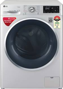 LG 8 kg Fully Automatic Front Load with In-built Heater Silver