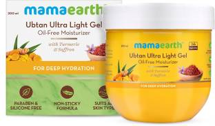 MamaEarth Ubtan Ultra Light Gel Oil-Free Moisturizer with Turmeric & Saffron for Deep Hydration