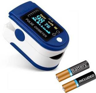 LANDWIND Health Care Digital Finger Pulse Spo2 Blood Oxygen Saturation Detector For Fast Measurement Pulse Oximeter (Multicolor) Pulse Oximeter