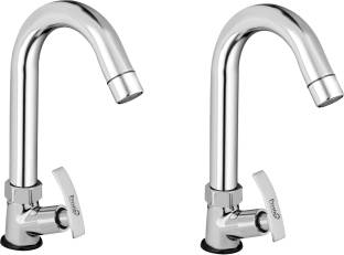 Prestige Passion (SWAN NECK) Brass PILLAR COCK For sink / wash basin Tap Faucet(Silver)- Pack of 2...
