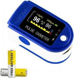 T TOPLINE Heart Rate Through Finger Pulse Oximeter + OLED Digital Finger Pulse Oximeter Spo2h Blood Oxygen Monitor Arterial Saturation Monitor With Pulse Rate Monitor Heart Rate Monitor Medical Health Monitoring Device with Automatic Shutdown + Carrying Bag Pouch + Lanyard Hanging Cord Strap Fintertip Pulsioximetro for Measuring Human Hemoglobin Saturation Pulse Oximeter (Blue) Pulse Oximeter