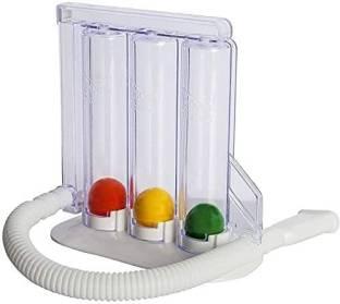 V SURZ Spirometer/ Respirometer/ 3-Ball Exerciser/ Lung Exerciser 3-Ball Respiratory Exerciser : 3-Ball Lung Exerciser Respiratory Spirometer Respiratory Exerciser