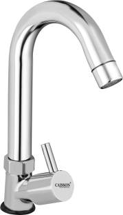 Caisson Brass Turbo Swan Neck Taps for Sink/wash basin 360 Degree Moving,Chrome Finish Spout Faucet