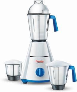 Prestige NAKSHATRA 550 W Mixer Grinder (3 Jars, WHITE & BLUE)