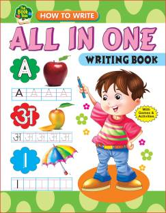 All In One Writing Book With Games And Activities(English,Hindi,Maths)