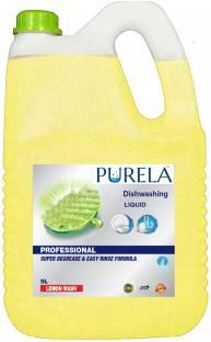PURELA Dish Wash liquid Anti-Bacterial Disinfectant Dish & Utensil Wash Gel, Dish Wash liquids 5 litres Dish Cleaning Gel