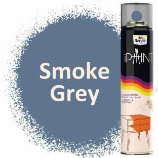 Berger iPaint DIY Rich Gloss Enamel Paint - Smoke Grey 400ml Smoke Grey Spray Paint 400 ml