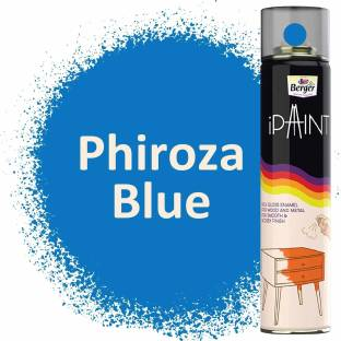 Berger iPaint DIY Rich Gloss Enamel Paint - Phiroza Blue 400ml Phiroza Blue Spray Paint 400 ml