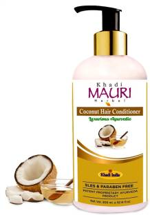 Khadi Mauri Herbal Coconut Hair Conditioner - Natural Conditioners Used for Hair Repair and Silkiness - SLES & PARABEN FREE - Enriched with Coconut & Aloe Vera - 300 ml 2