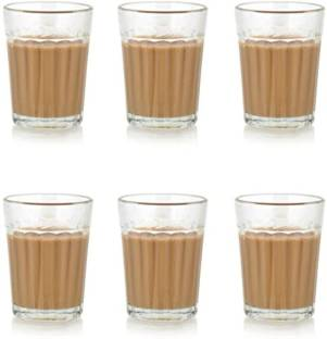 Satyam Kraft (Pack of 6) Traditional Indian Cutting Chai /Tea Style Experience Set(Pack of 6) Glass Set