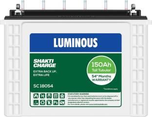 LUMINOUS ShaktiCharge SC18054 150Ah Tall Tubular Battery Tubular Inverter Battery