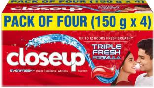 Closeup Everfresh+ Anti-Germ Gel Toothpaste Red Hot Toothpaste