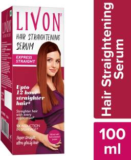 LIVON Hair Straightening Serum, Straighten Hair Instantly, 5X Less Breakage, Straighter Hair for upto 12 Hours, Super Straight & Ultra Glossy Hair