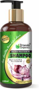 Dravida Organics Red Onion Black Seed Oil Shampoo with Red Onion Seed Oil Extract