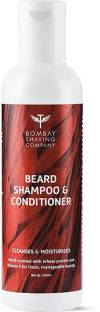 BOMBAY SHAVING COMPANY Beard Shampoo and Conditioner with Wheat Protien, Aloe Vera and Vitamin E for Frizz Free Beard - 100 ml (Wood Scented)