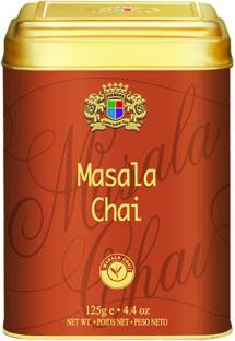 Premiers Masala Chai Flavored Tea | 62 Cups | 125 Grams | PMS Series | Special Assam Tea Blended With Masala Chai Flavour Spices Masala Tea Tin