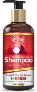 Khadi Cosmetics Onion Hair Fall Shampoo for Hair Growth & Hair Fall Control, with Red Onion & Black Seed for Men, Women