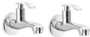 Prestige Brass Passion Long Body Tap for Bathroom, Water Tap Chrome Finish (Pack Of - 2) Bib Tap Fauce...