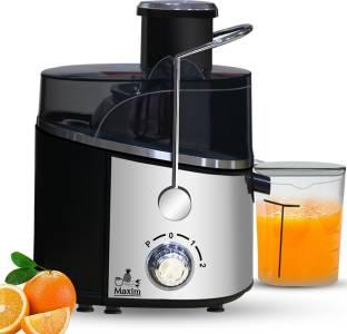 Inalsa by Inalsa Maxim Juicer Mixer Grinder 500 Juicer Mixer Grinder (2 Jars, Silver/Black)